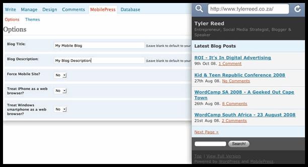 WordPress手机主题自动制作转换插件:MobilePress-反馈吧 | 分享你的福利吧